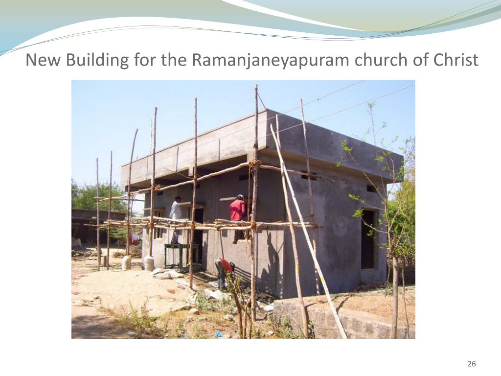 New Building for the Ramanjaneyapuram church of Christ