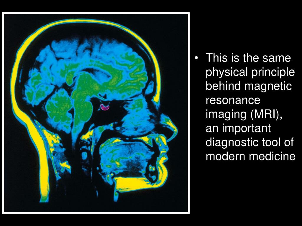 This is the same physical principle behind magnetic resonance imaging (MRI),