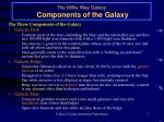 the milky way galaxy components of the galaxy