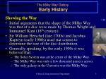 the milky way galaxy early history