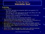 the milky way galaxy interstellar dust14