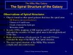 the milky way galaxy the spiral structure of the galaxy