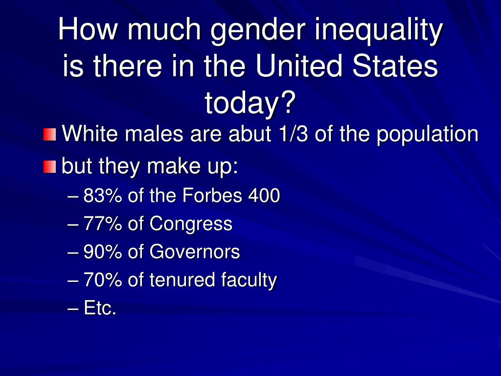 the social inequality in race and gender in the united states Unlike the case in the united states where the term african american is common stereotypes can be based on race, ethnicity, age, gender, sexual orientation—almost any characteristic apart from the issues of race, ethnicity, and social inequality.