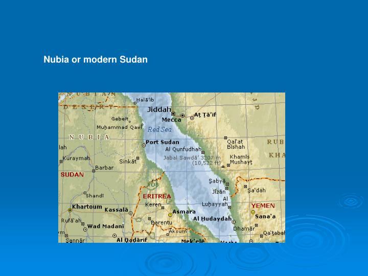 Nubia or modern Sudan