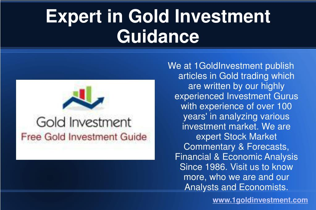 expert in gold investment guidance
