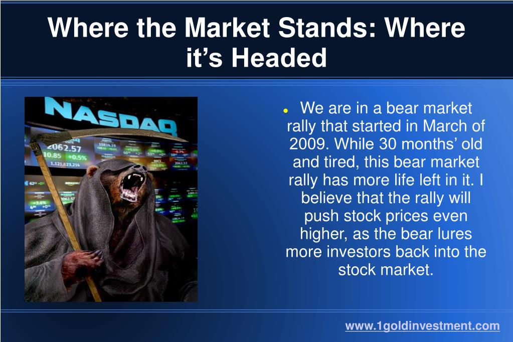 Where the Market Stands: Where it's Headed