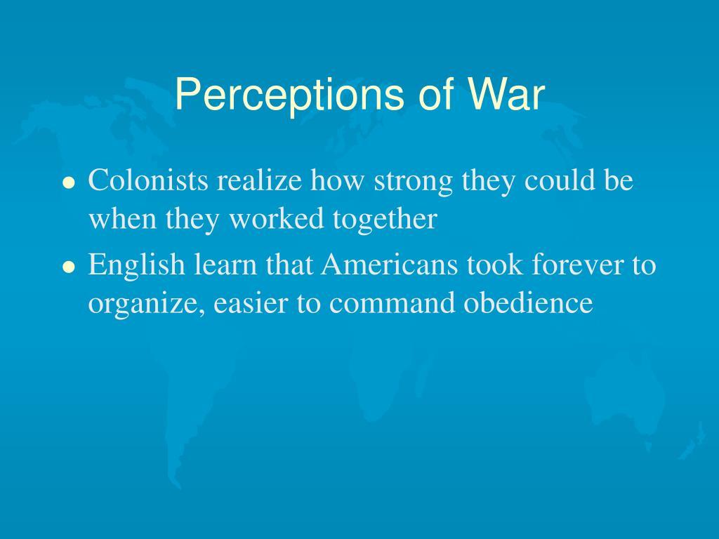 Perceptions of War