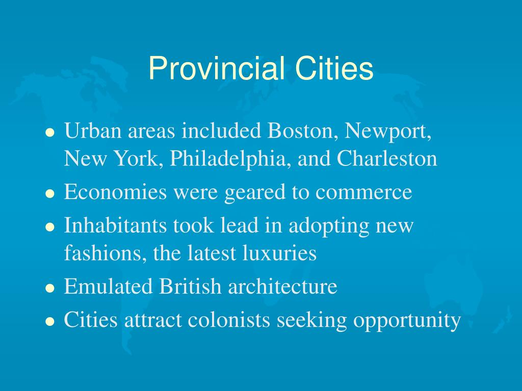 Provincial Cities