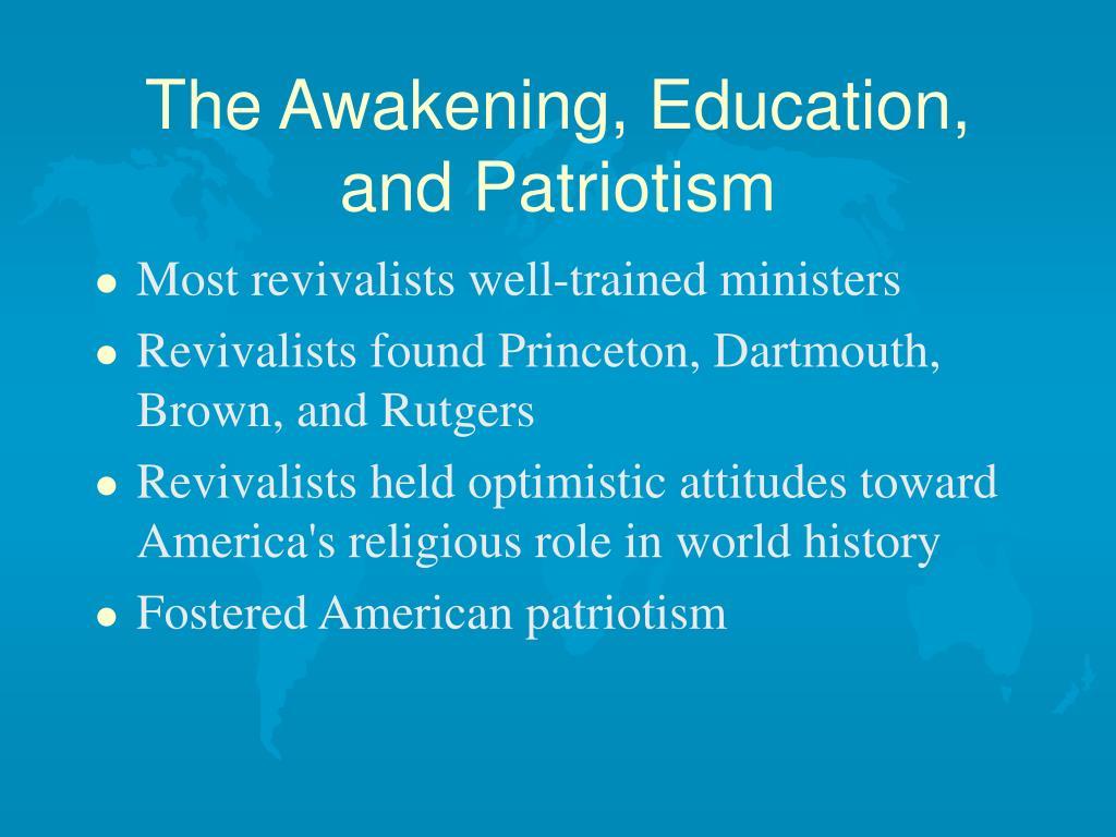 The Awakening, Education, and Patriotism