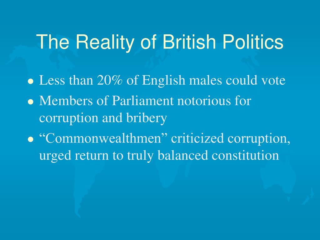 The Reality of British Politics