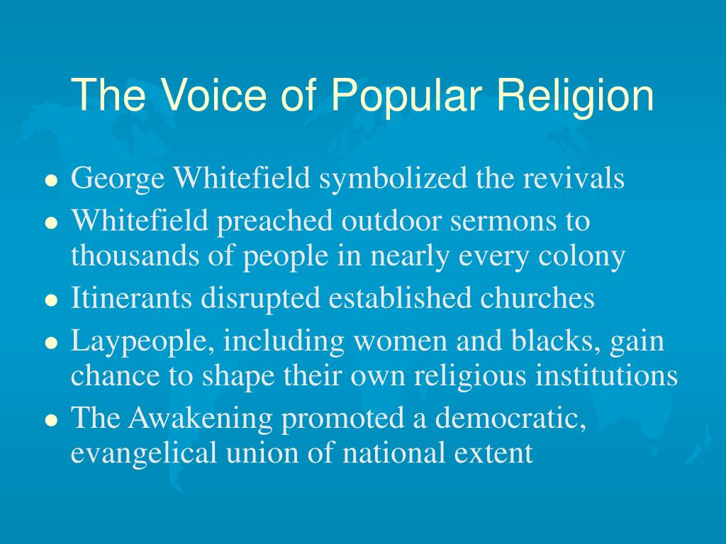 The Voice of Popular Religion