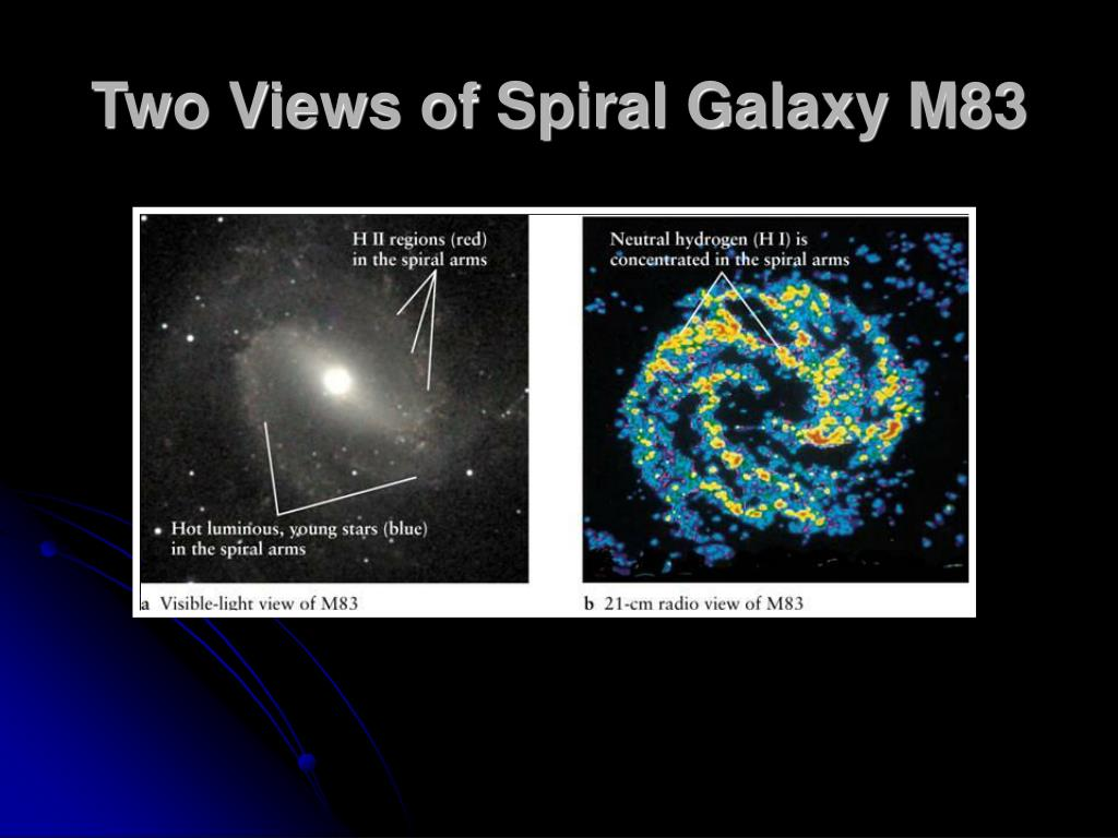 Two Views of Spiral Galaxy M83