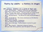 poetry by adults a history in stages15