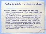 poetry by adults a history in stages16