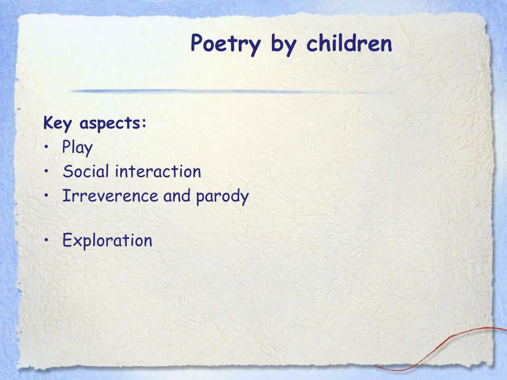 Poetry by children