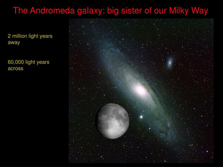 The andromeda galaxy big sister of our milky way3