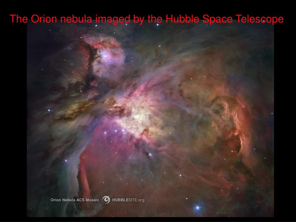 The Orion nebula imaged by the Hubble Space Telescope