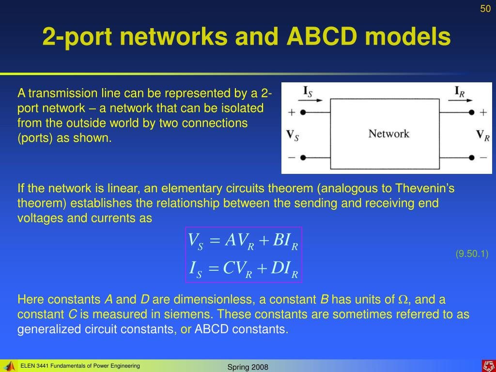 2-port networks and ABCD models