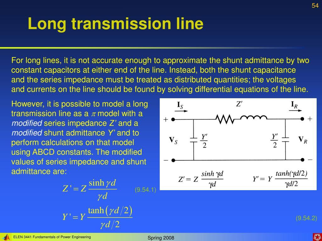 Long transmission line
