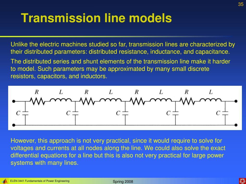 Transmission line models