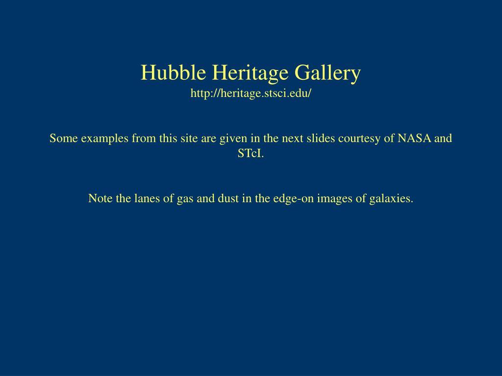 Hubble Heritage Gallery