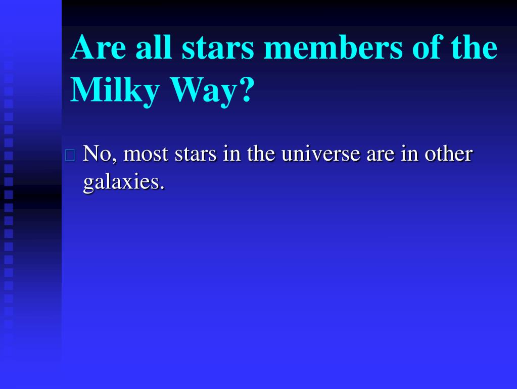 Are all stars members of the Milky Way?