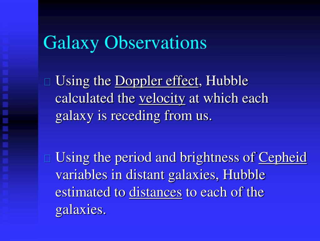 Galaxy Observations