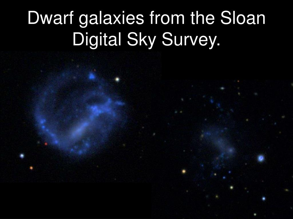 Dwarf galaxies from the Sloan Digital Sky Survey.