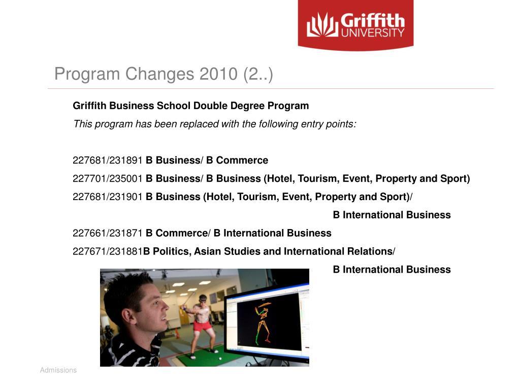 Program Changes 2010 (2..)