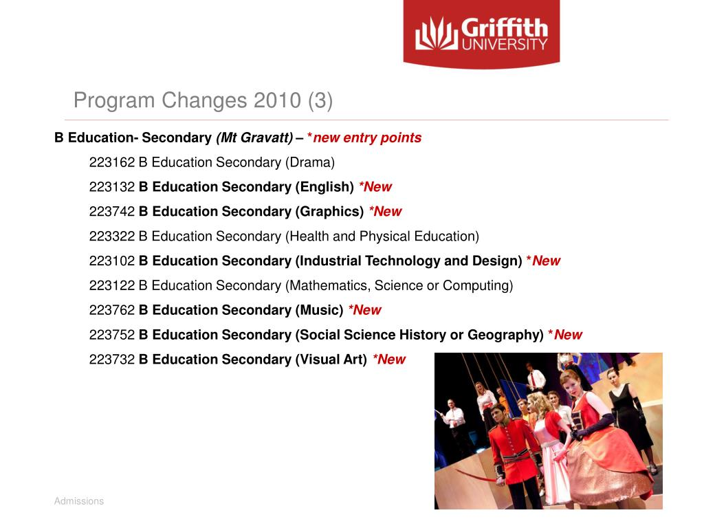 Program Changes 2010 (3)