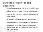 benefits of open ended questions