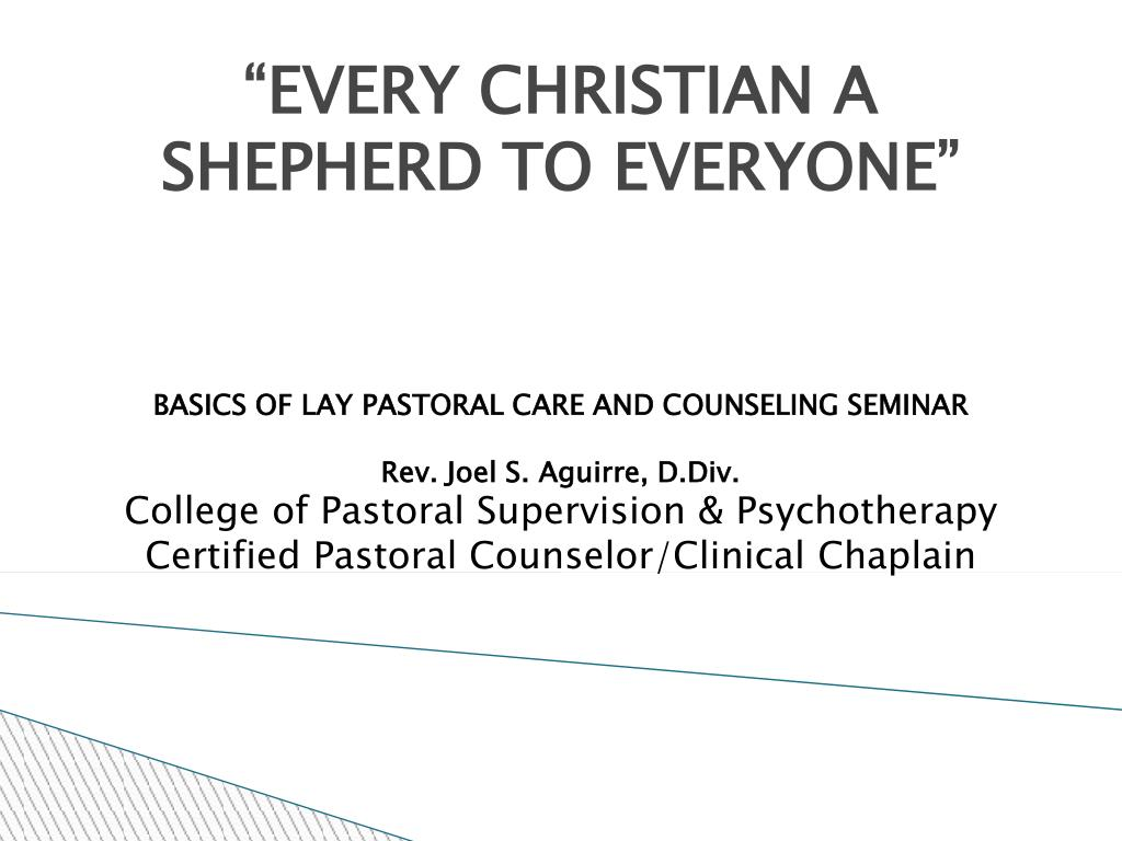 every christian a shepherd to everyone