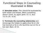 functional steps in counseling illustrated in bible51