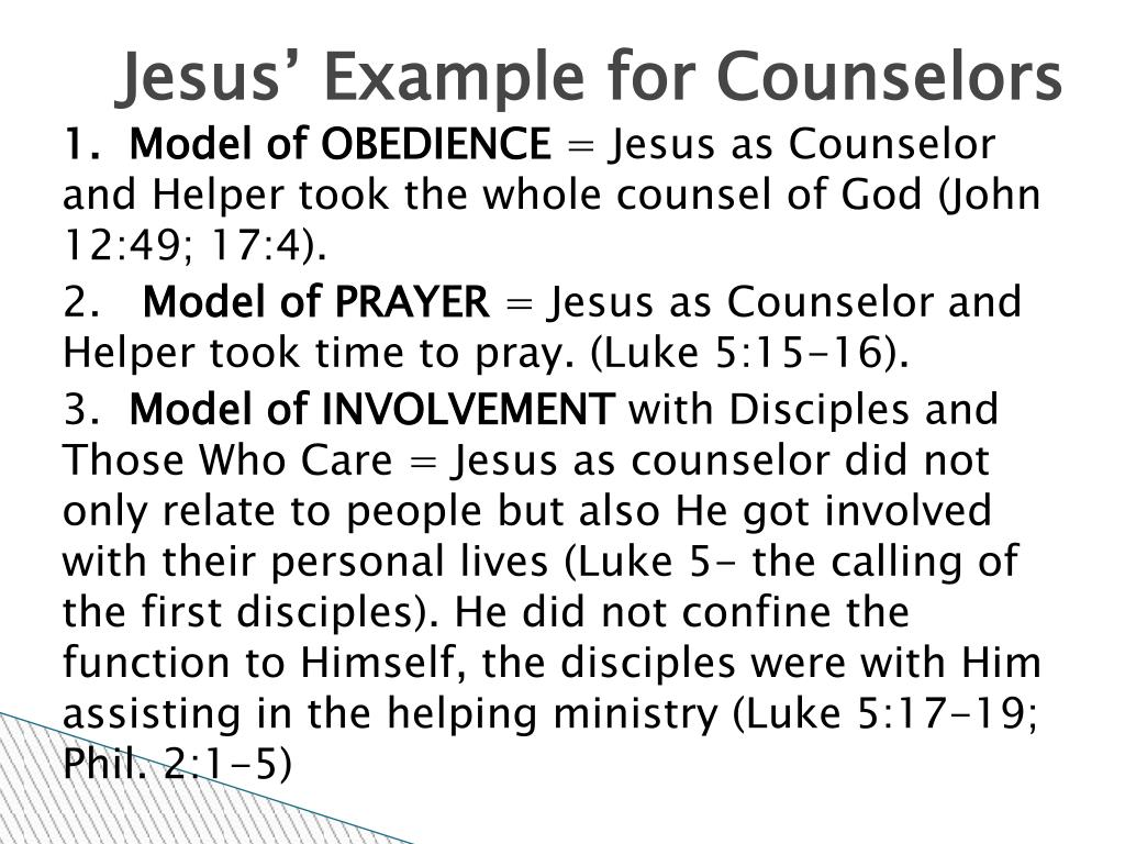 Jesus' Example for Counselors