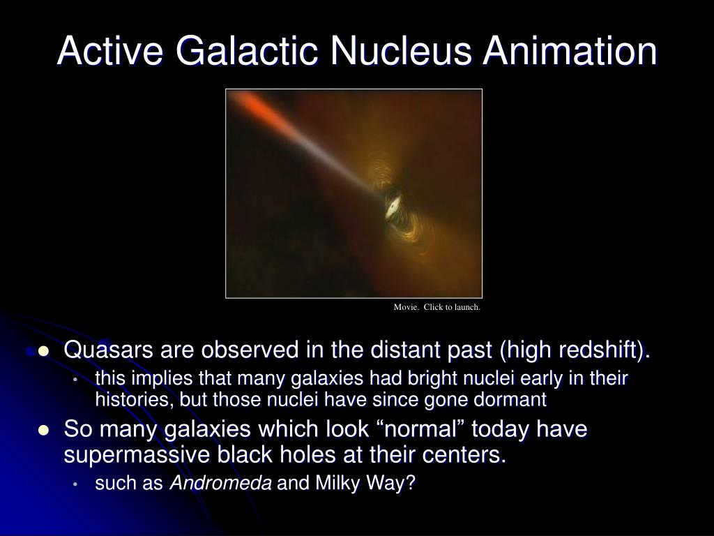 Active Galactic Nucleus Animation