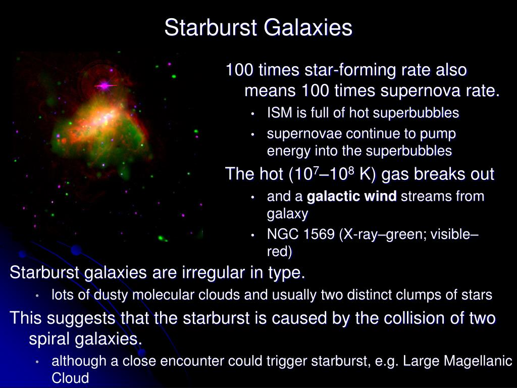 100 times star-forming rate also means 100 times supernova rate.