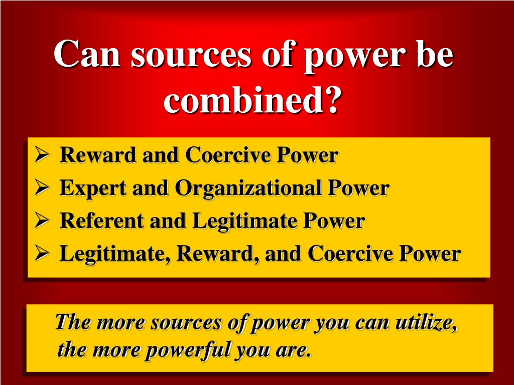 Can sources of power be combined?