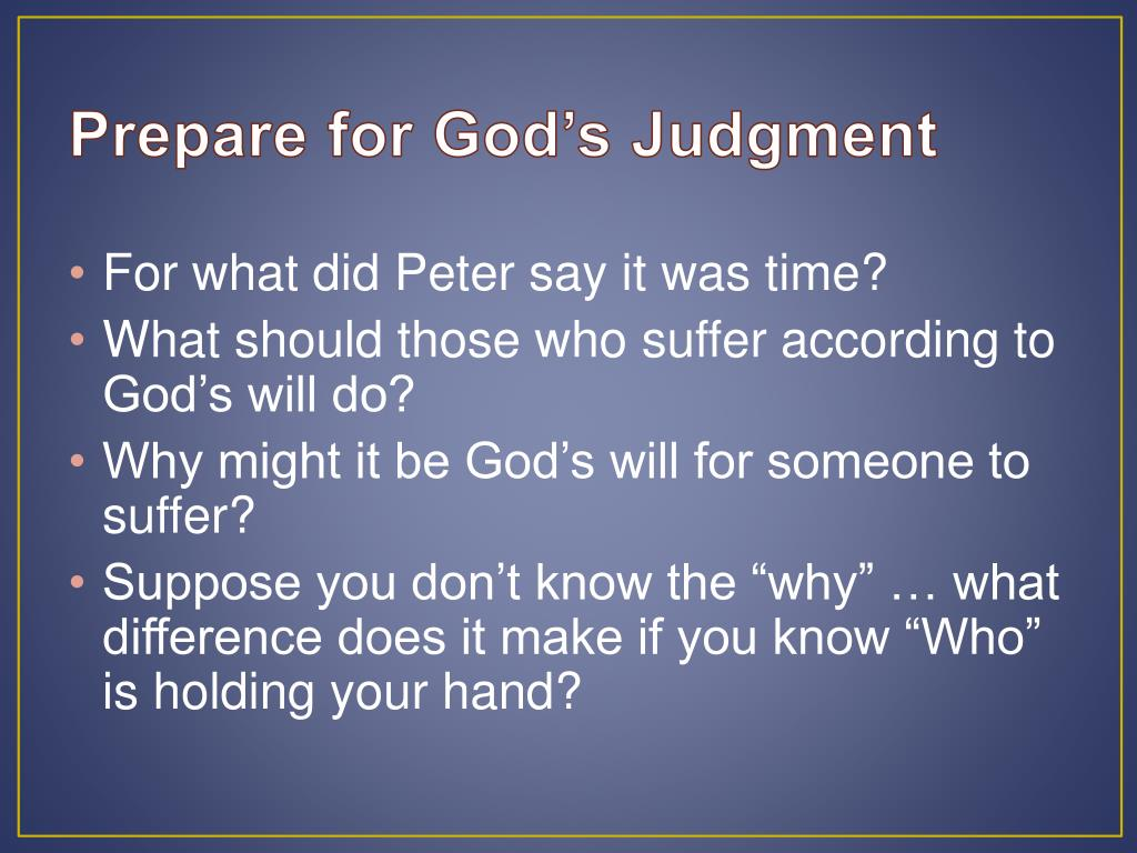 Prepare for God's Judgment