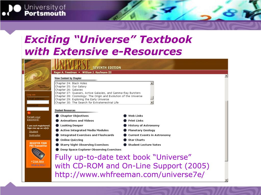 """Exciting """"Universe"""" Textbook"""