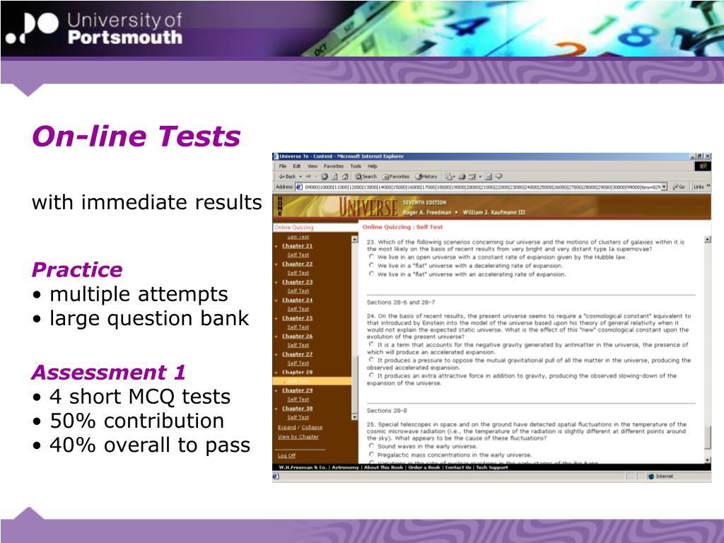 On-line Tests