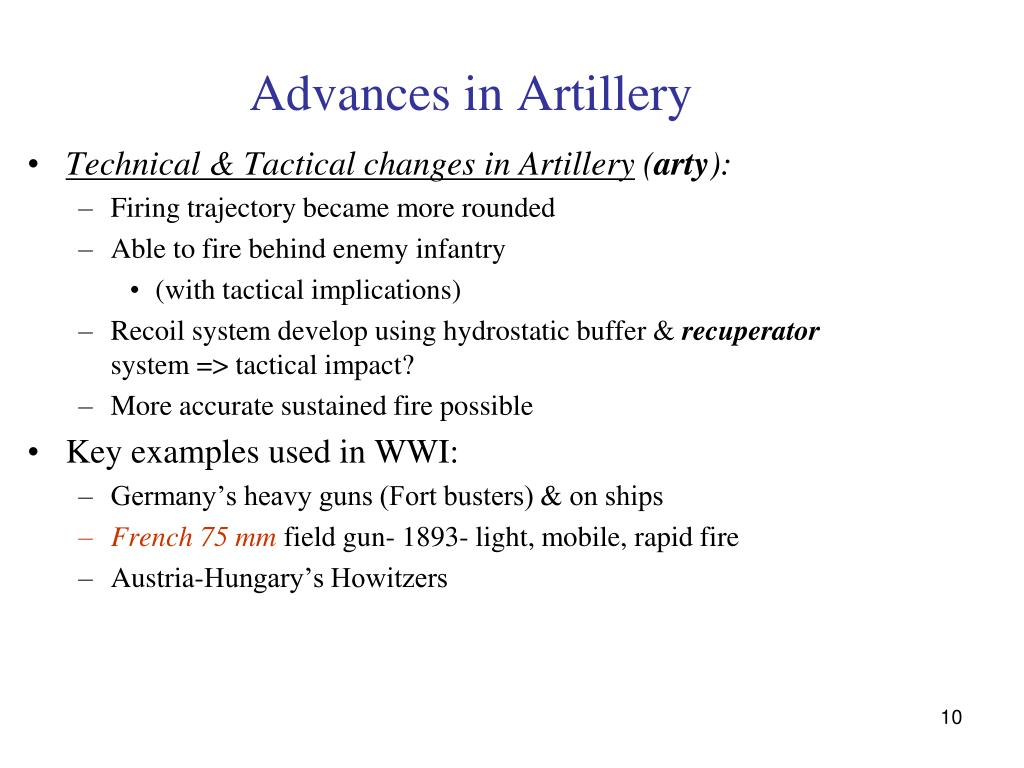 Advances in Artillery