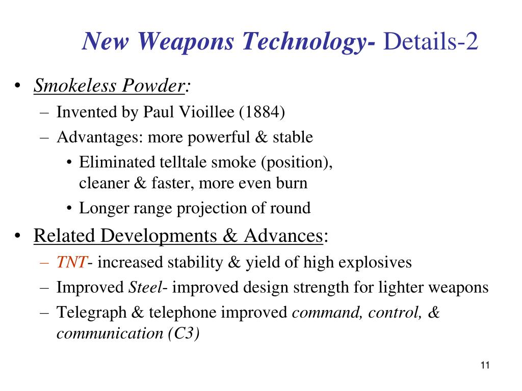 New Weapons Technology-