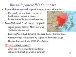 russo japanese war s impact