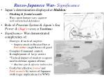 russo japanese war significance