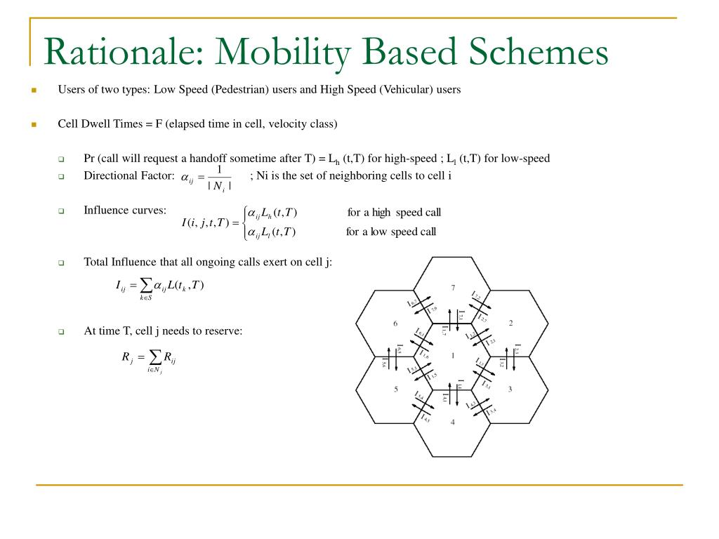 Rationale: Mobility Based Schemes