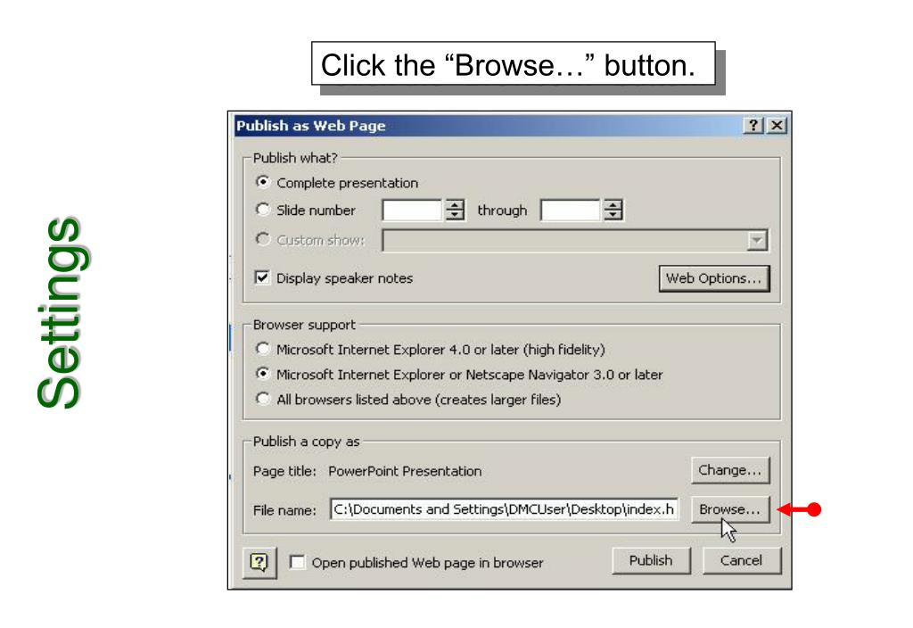 """Click the """"Browse…"""" button."""