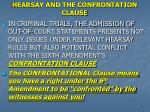 hearsay and the confrontation clause