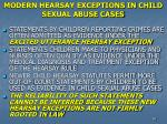 modern hearsay exceptions in child sexual abuse cases
