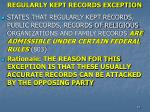 regularly kept records exception