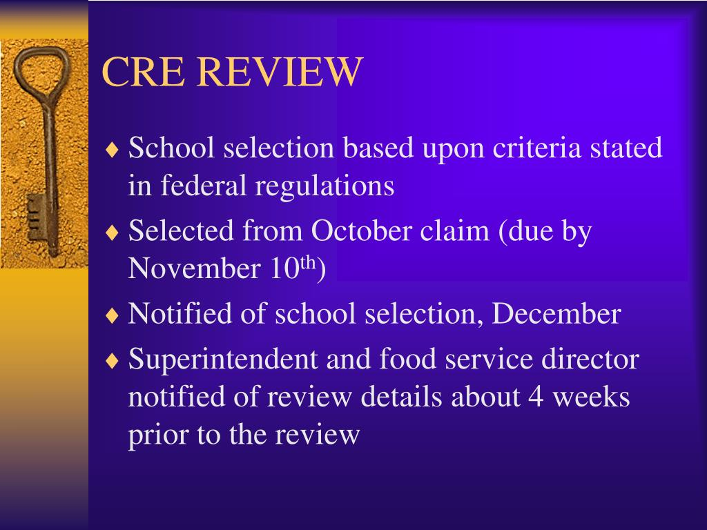 CRE REVIEW